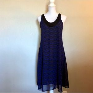 Navy and Black Tribal Dress